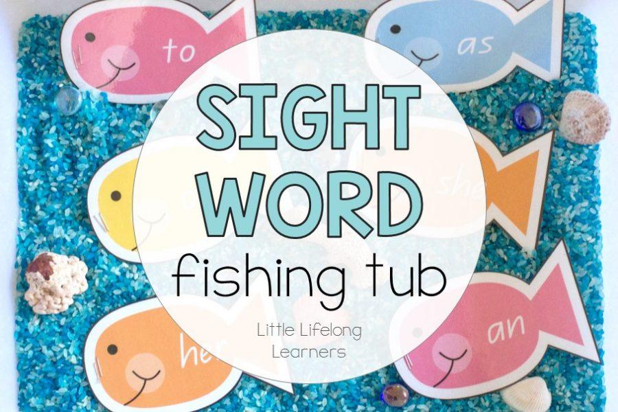 Sight Word Fishing Tub