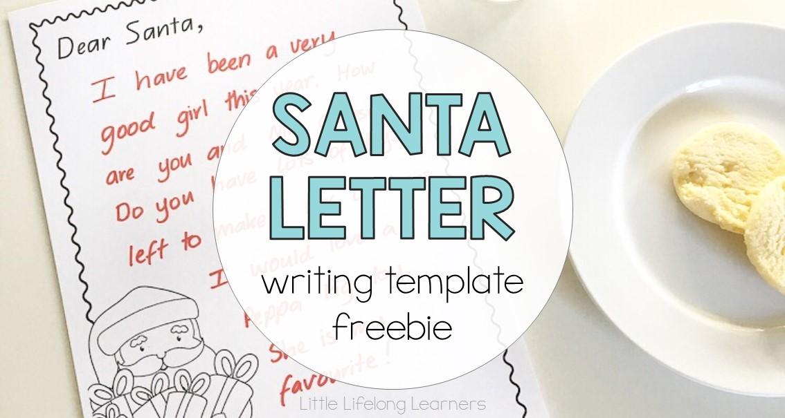 Dear Santa Letter Writing Template freebie   free Christmas printables