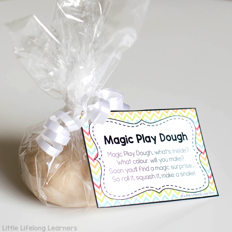How to make magic play dough for the first day of school   back to school gift for students   prep teacher ideas   welcome present for new students   beginning of the year