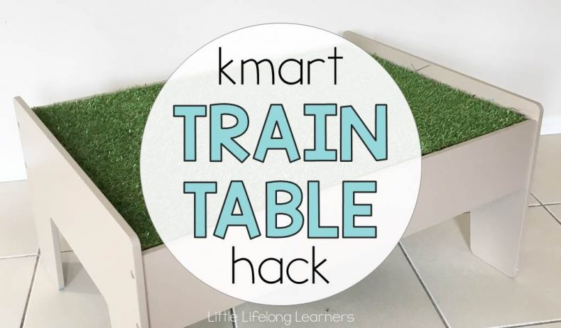 Kmart Train Table Hack
