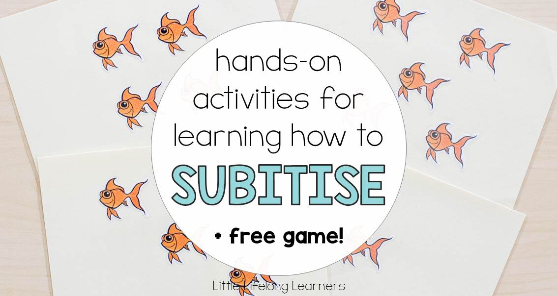 Hands-on activities for learning how to subitise | Subitising games and ideas for Prep, Foundation and Kindergarten students | Australian Curriculum Numeracy Strand - Number |
