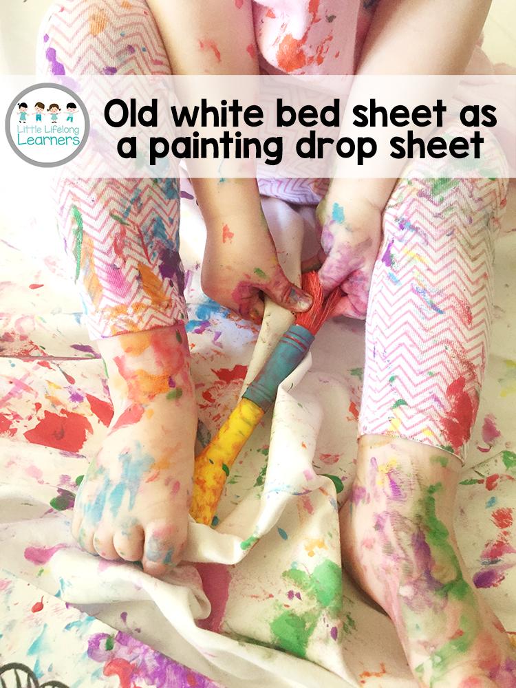 Painting Drop Sheet Little Lifelong Learners