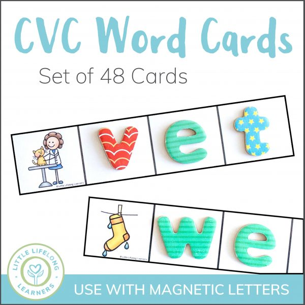 CVC Word Cards for magnetic letters or write and wipe activities | Hands-on activities for reading groups or literacy centres | Australian Prep, Foundation and Kindergarten printables for the Australian Curriculum |
