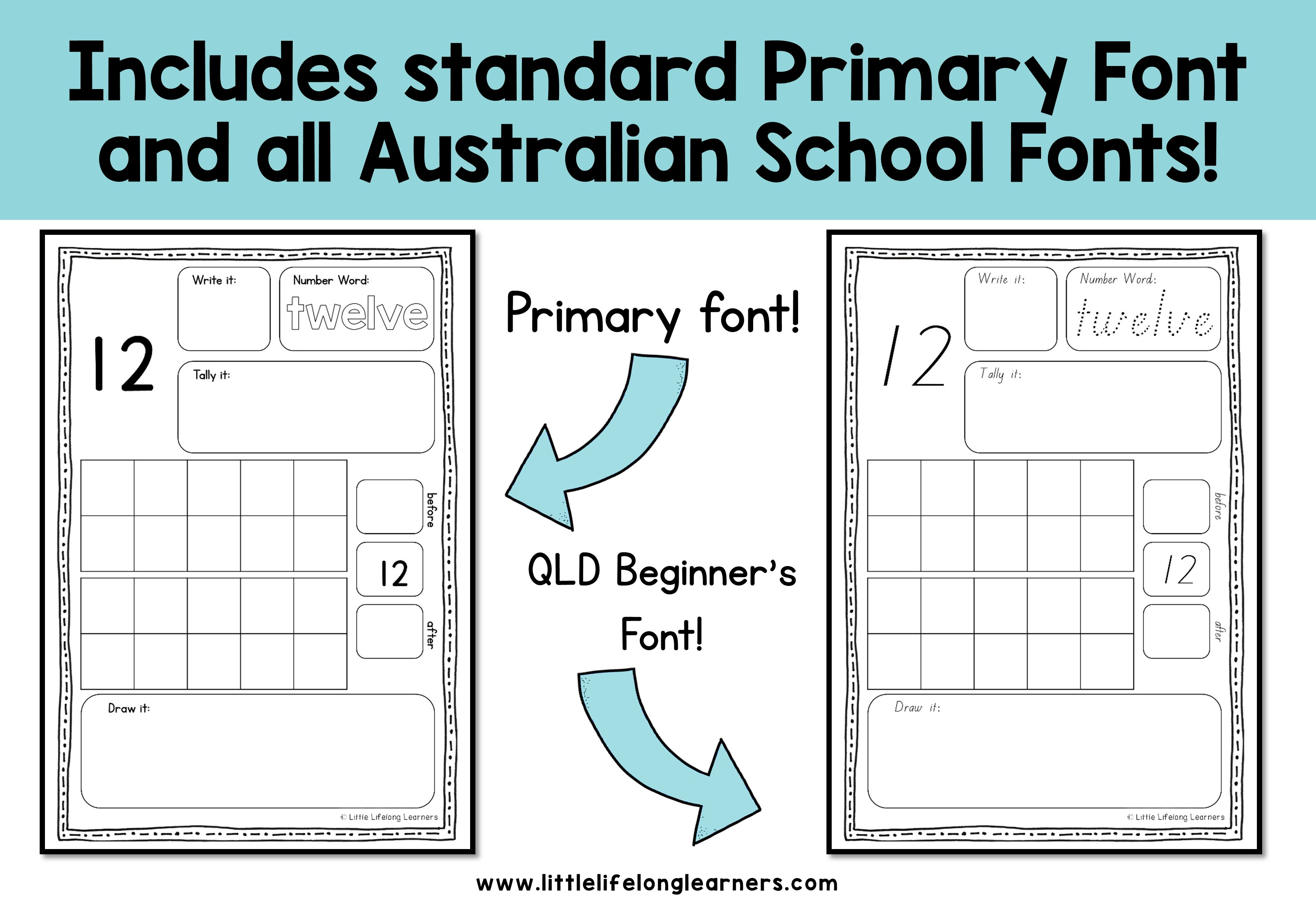Representing Numbers Activity Sheets - Little Lifelong Learners
