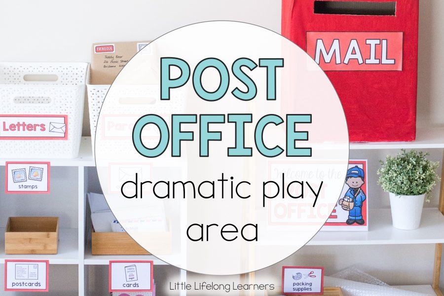 Post Office Dramatic Play Area