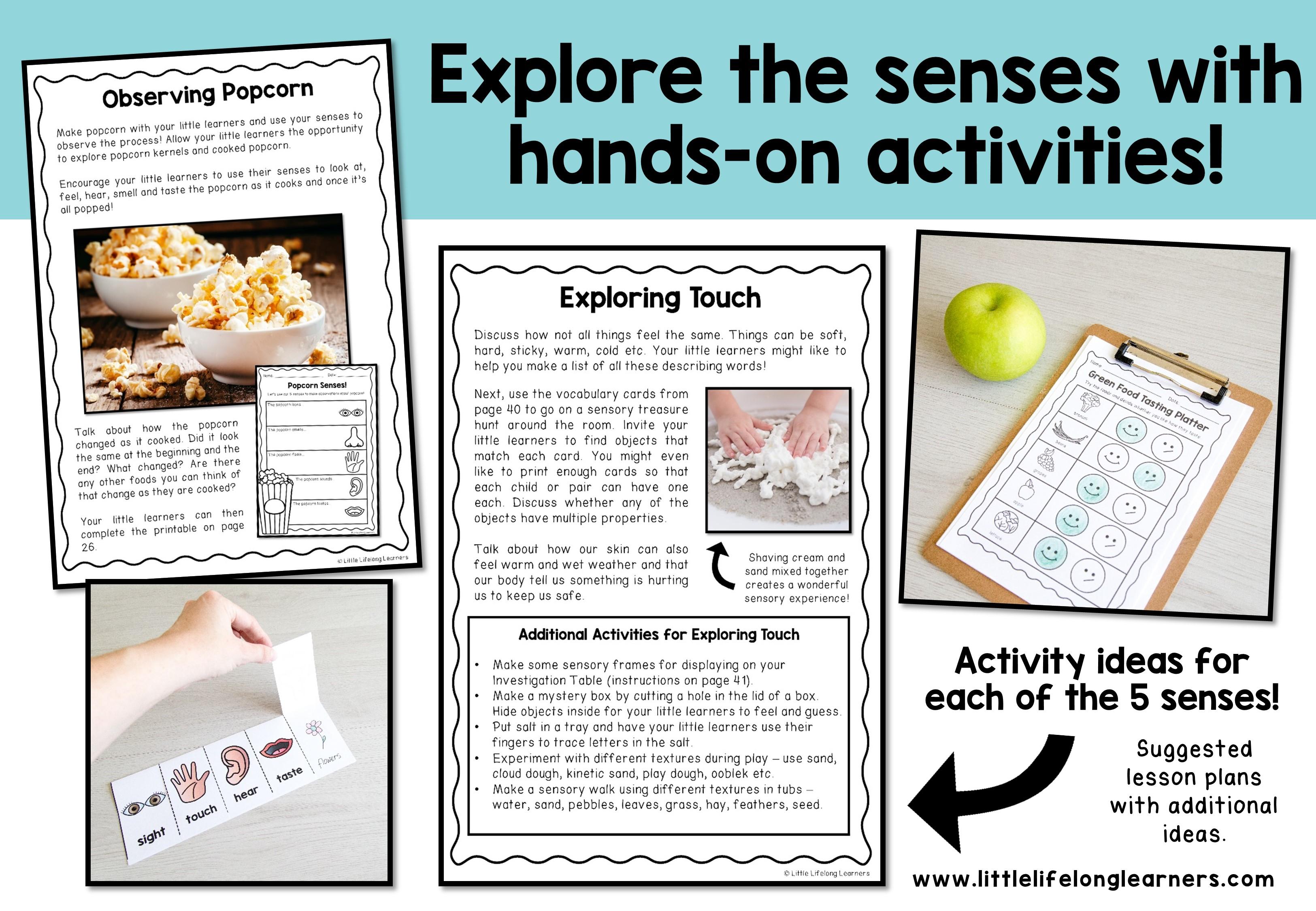 sensory words activities
