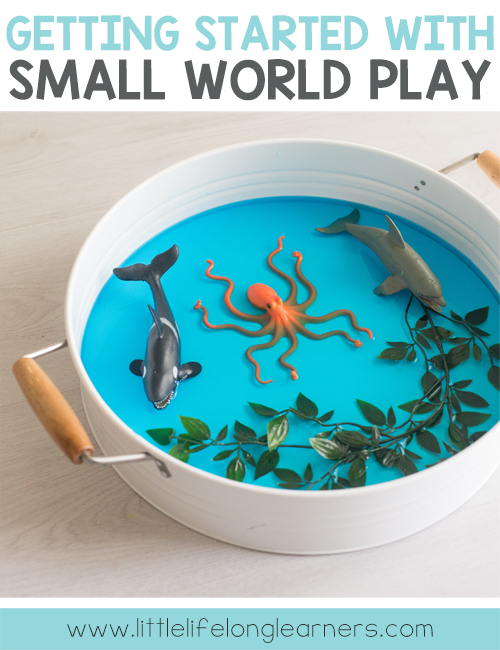 How to get started with small world play | Sensory small world tubs for babies, toddlers and preschoolers | Imaginative play, creative thinking skills | Play ideas, tot school, learning through play |