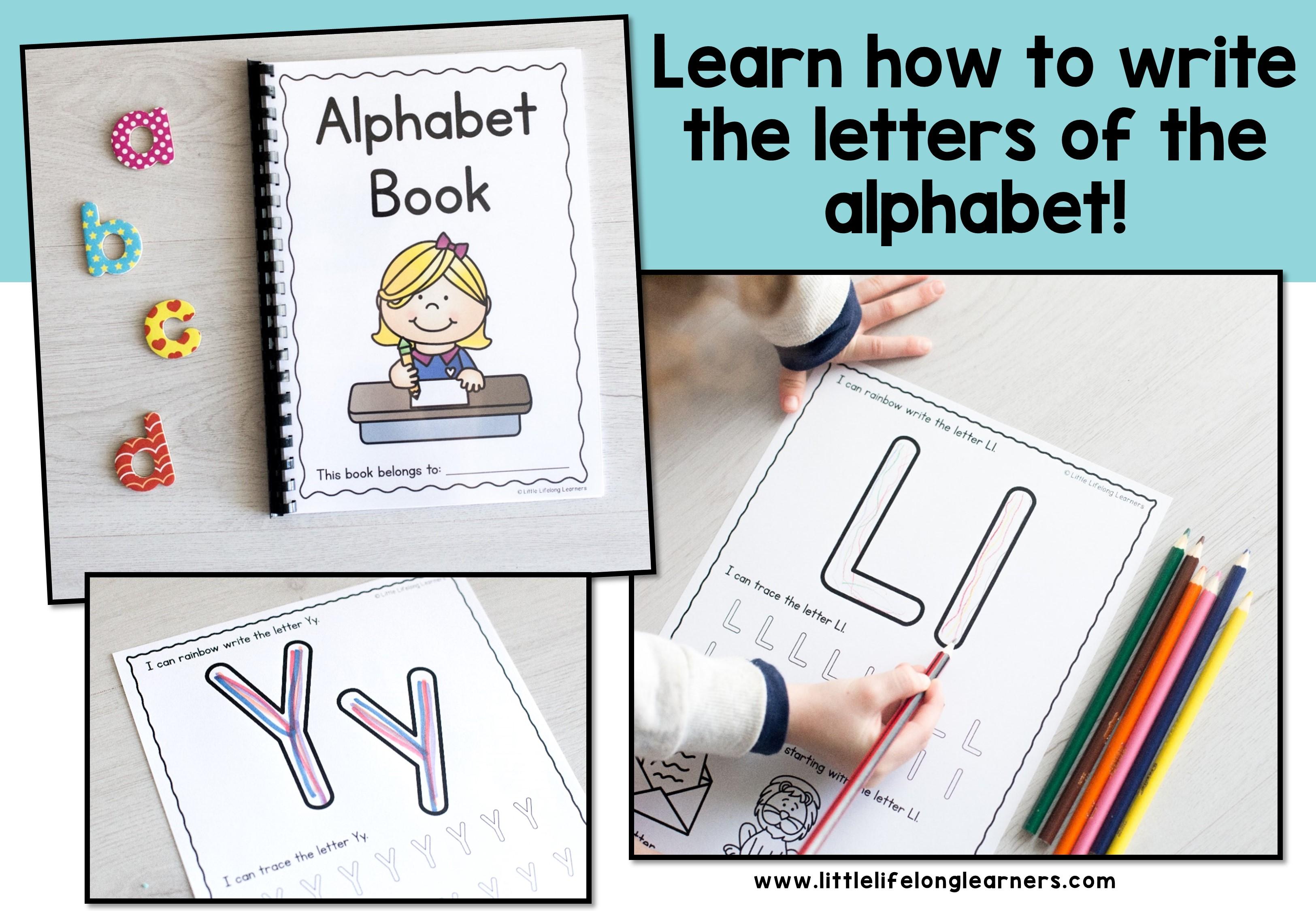 alphabet writing worksheets little lifelong learners. Black Bedroom Furniture Sets. Home Design Ideas