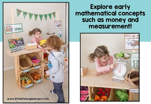 Set up a Farmer's Market or Fruit and Veg shop in your dramatic play and imaginative play space | fruit and vegetable dramatic play printables | Imaginative play ideas for toddlers, preschoolers and kindergarten children | Posters, signs, labels and printables | Role play in the early years classroom | Australian teachers and parents | Play-based, age appropriate pedagogies | Printables for Prep and Foundation | Healthy choices and eating lesson ideas |