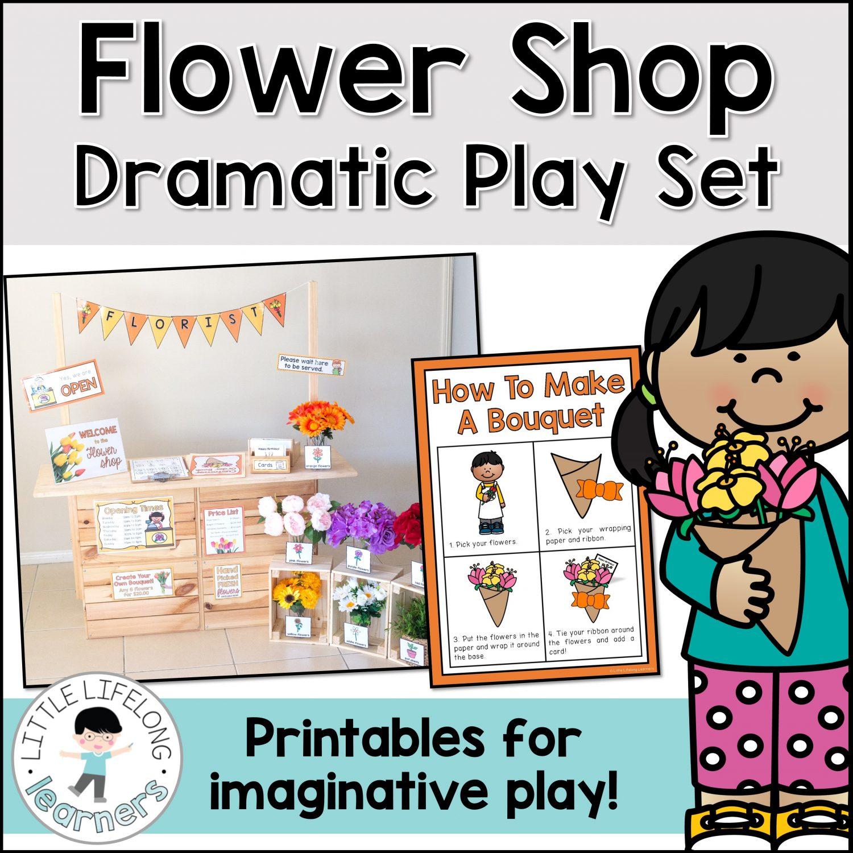Flower Shop Dramatic Play Set Little Lifelong Learners