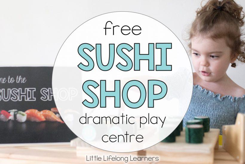FREE Sushi Shop Dramatic Play