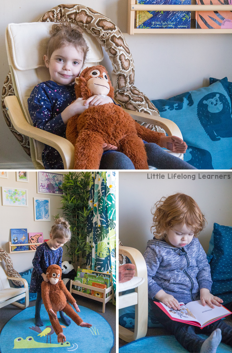 IKEA reading corner for toddlers, preschoolers and kindergarten children | DJUNGELSKOG endangered animal range | FLISAT bookshelves | IKEA Australia collaboration | Learning to read | Australian teachers and parents | School readiness |