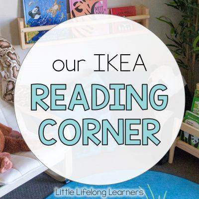 IKEA reading corner for toddlers, preschoolers and kindergarten children | DJUNGELSKOG endangered animal range | FLISAT bookshelves | IKEA Australia collaboration | Learning to read | Australian teachers and parents | School readiness |