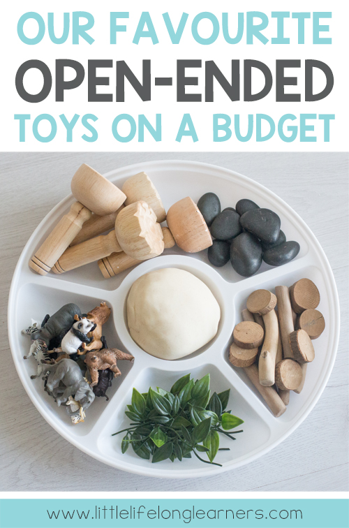 Our favourite open-ended toys on a budget. Prepare your children for hours of creative, independent play with these affordable toys and materials. Share this list with relatives for birthday's and Christmas gift ideas.