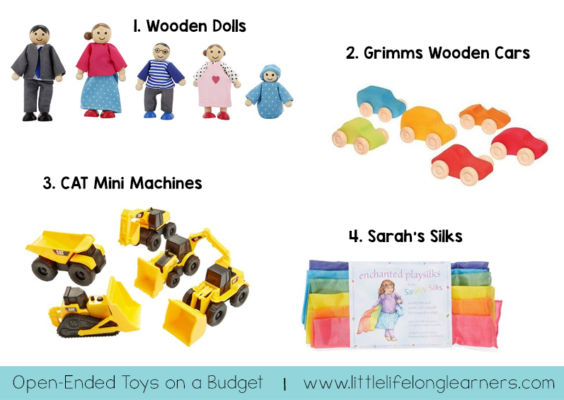 Our favourite toys for open-ended play on a budget! Prepare your children for hours of creative, independent play with these affordable toys and materials. Share this list with relatives for birthday's and Christmas gift ideas.