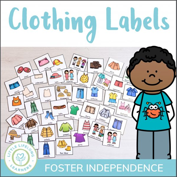 These clothing labels for kids drawers are the perfect way to teach independence and get your drawers organized! Your children will love the closet organization labels and will have so much fun sorting their clothes on washing day!