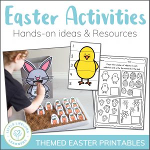 This Easter activity pack is perfect for school kids, toddlers, preschool and kindergarten children! Explore literacy and math concepts like number recognition, sight words and alphabet and letter recognition in fun, hands-on activities! The printables in this pack feature puzzles, cut and paste activities, sorting, Easter dramatic play and craft ideas!