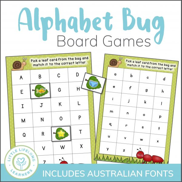 Review letters and their sounds with this fun, engaging alphabet game! Perfect for exploring letter sounds and names and differentiated to suit various ages and stages. Great for the Preschool, Kindergharten, Prep classroom and homeschooling moms! Includes QLD Beginner's, NSW Font, VIC Modern Cursive fonts and more!