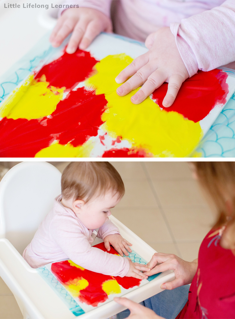 Easy play ideas for 8 month old babies! Find simple baby play ideas for your 8 month old! Sensory play is an easy way to play and learn with your babies! Includes sensory play, edible play ideas and painting activities for your baby! Perfect for your 7 month old, 8 month old and 9 month old and baby play time!